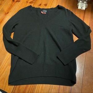 Black long sleeve Cashmere Talbots sweater